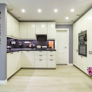 Кварц-Виниловая плитка WONDERFUL LuxeMIX 162 ДУБ БЕЛЕНЫЙ интерьер